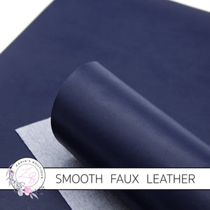 Navy Smooth Faux Leather ~ 0.92mm
