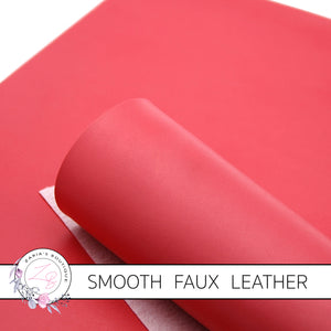 Watermelon Red Smooth Faux Leather ~ 0.92mm