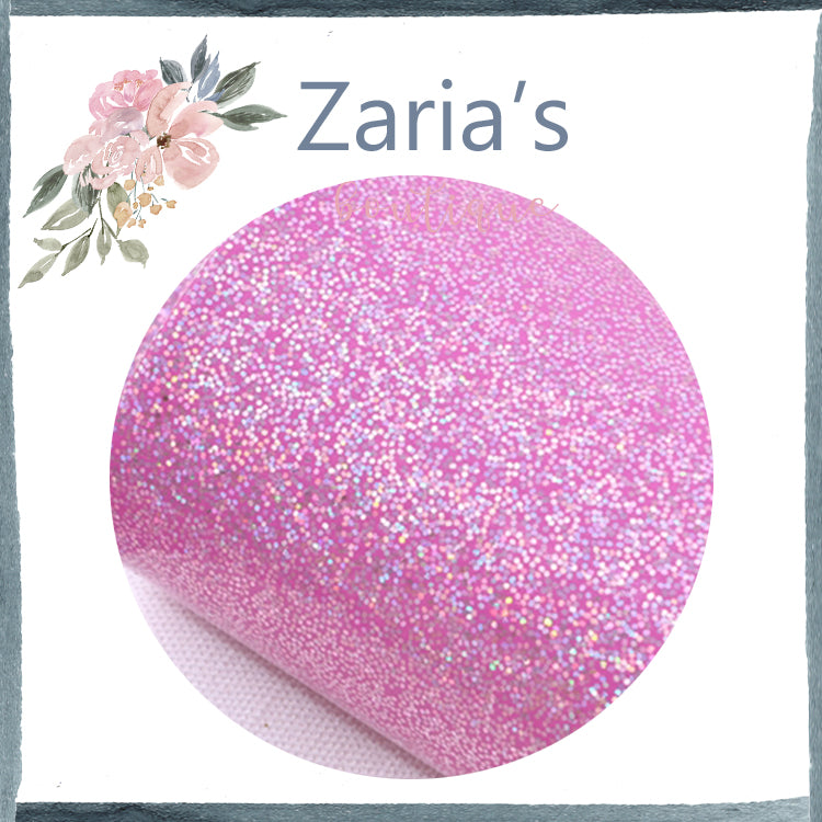 Smooth Shiny Glitter Faux Leather ~ Pink/Purple