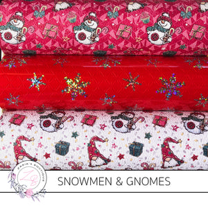 Christmas Gnomes & Snowmen Faux Leather Designer Multi-Pack