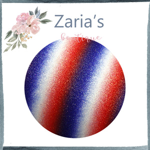 Red White & Blue  ~ FINE GLITTER ~ Craft Faux Bow Leather