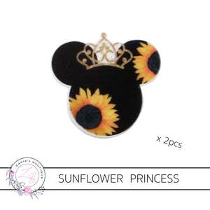 Sunflower Princess ~ Ribbon ~ Resins ~ Faux Leather