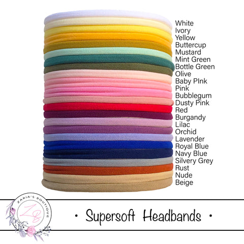 SUPERSOFT Headbands ~ Over 20 Colours!