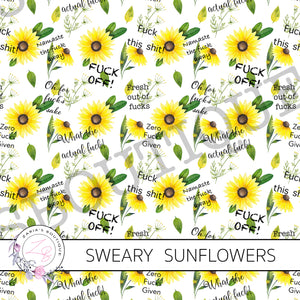 Exclusive Sweary Adults Only Sunflower Floral ~ Custom Canvas