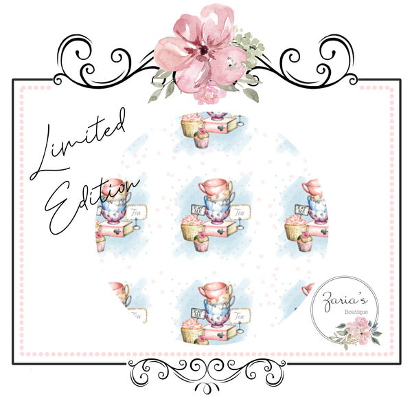 Limited Edition ~ Printed Canvas Sheets ~ Alice Collection ~ Tea Party ~ Eat Me