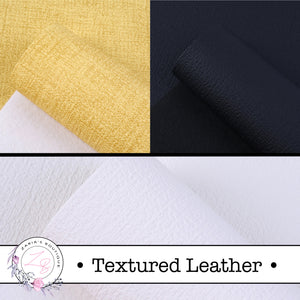 ⋅ Textured Faux Leather  ⋅ Yellow ⋅ Black ⋅ White ⋅