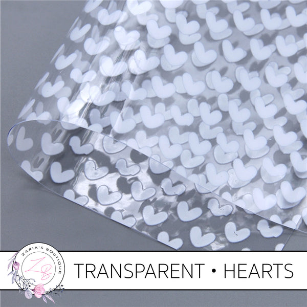 White Hearts • Transparent Faux Leather