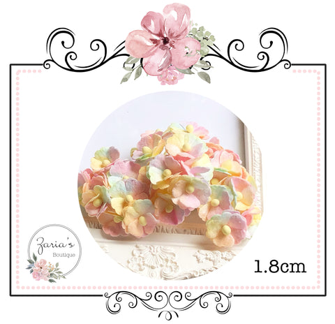 Mulberry Paper Flower ~ Unicorn Blossom ~ 19mm ~ 1.9cm x 10 pieces