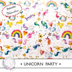 ⋅ Unicorn Party ⋅ Smooth Vegan Faux Leather ⋅