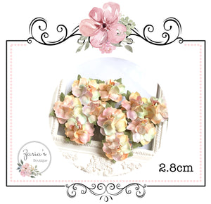 Mulberry Paper Flower ~ Unicorn Rosette ~ 27.5mm ~ 2.75cm x 5 pieces