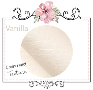 Vanilla ~ Cross Hatch Textured Faux Leather