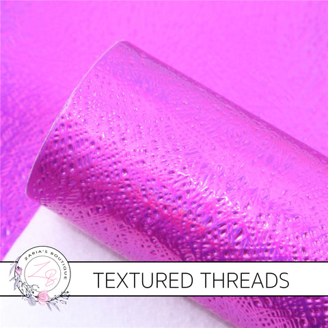 Textured Threads Holo Faux Leather Leatherette ~ Violet ~ 0.86mm