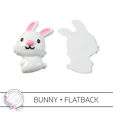 Bunny Rabbit  •  Flatback Resin Embellishments  •  x 2 pieces