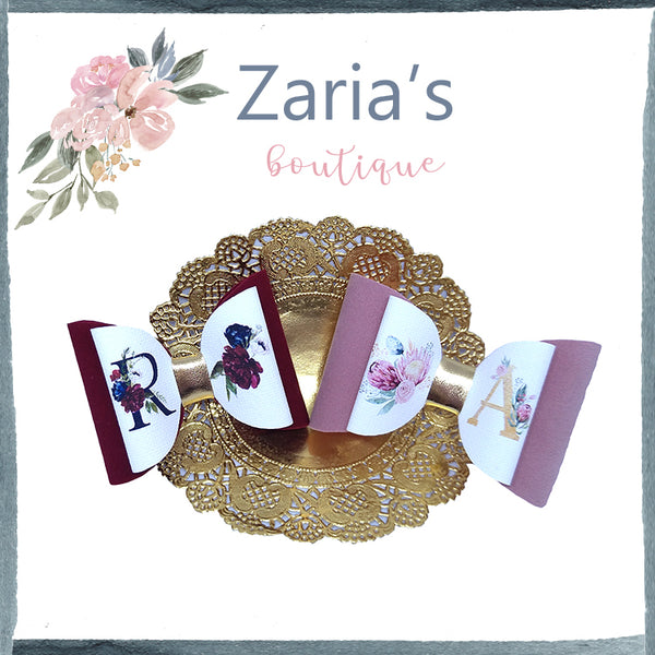 EXCLUSIVE Monogram Bow ~ A to Z  & Numbers 1 to 10 ~ Printed Canvas Sheets ~ Bow Making ~ Initials ~ Ready To Cut