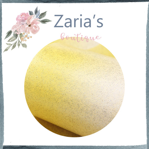 Ombre Smooth Glitter Leatherette ~ Yellow