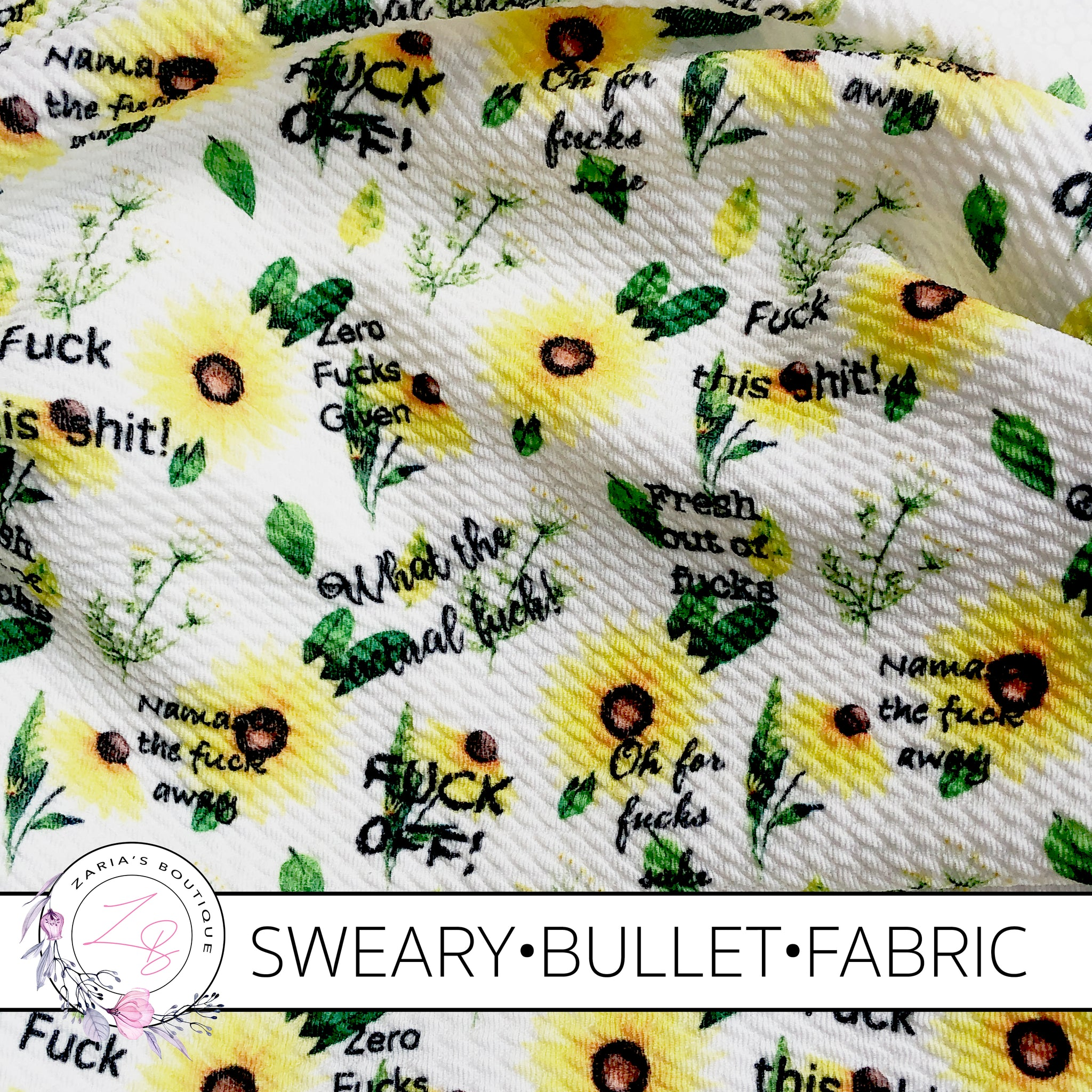 Exclusive Sweary F Bomb Floral Bullet/Liverpool Stretch Fabric