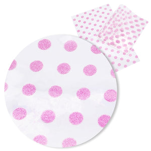 Transparent Glitter Pink Spots PVC Pool Bows
