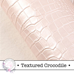 ⋅ Textured Crocodile ⋅ Blush Pink ⋅ Vegan Faux Leather ⋅