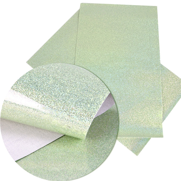 Smooth Shiny Glitter Faux Leather ~ Green