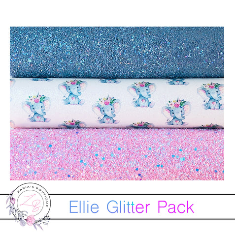 Ellie The Elephant ~ Designer Multi Pack Faux Leathers ~ 3 Full Sheets