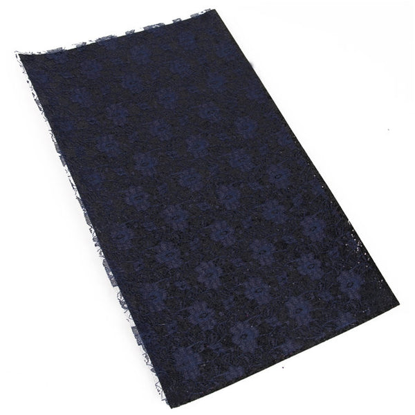 Black Textured Lace - Faux Leather Craft Fabric Sheets