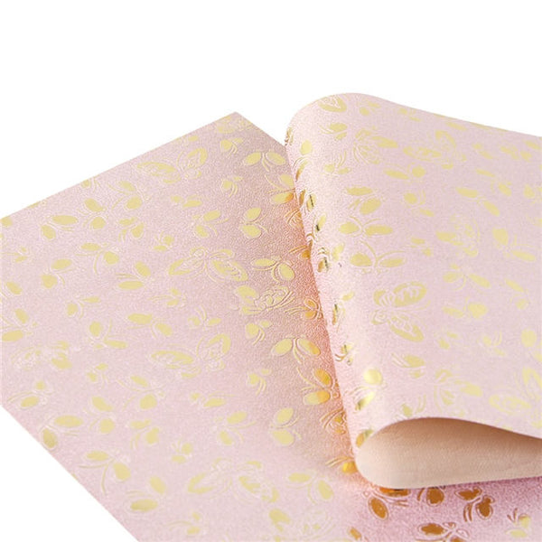 Butterfly Embossed Craft Fabric - Silver, Pink or Gold