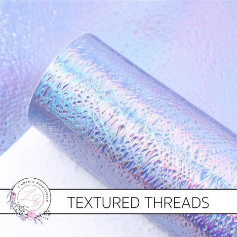 Textured Threads Holo Faux Leather Leatherette ~ Lavender ~ 0.86mm