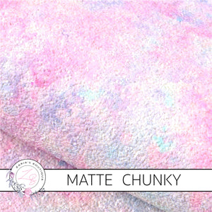 Watercolour Sunset ~ Chunky GLITTER ~ Pastels ~ Craft Fabric Sheets ~ 0.98mm