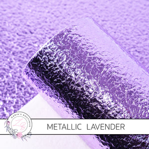 METALLIC ~ Lavender Purple Grain Faux Leather