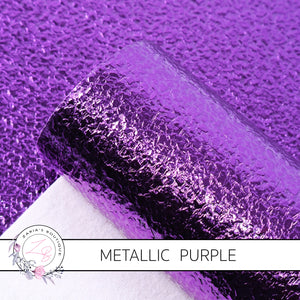 METALLIC ~ Purple Grain Faux Leather