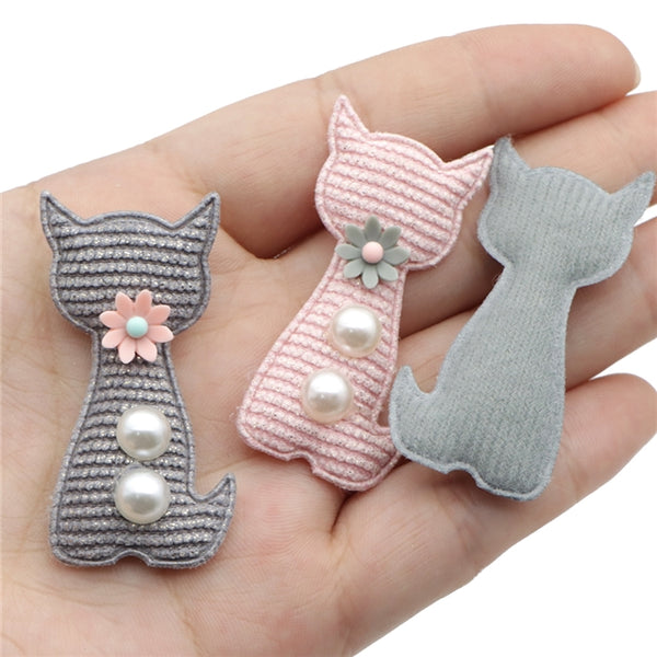 Cute Kitty  • Applique Embellishments • 2 Colours • 2 Pieces