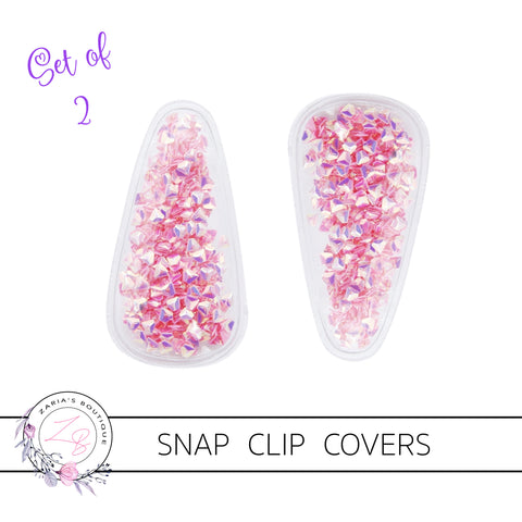 Shaker Snap Clip Covers - Rose Diamonds - Pack of 2
