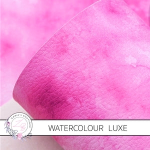 Watercolour Pinks • Vegan Faux Leather • 1mm