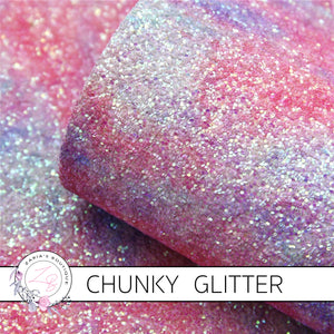 Watercolour Sparkle Sunset ~ Chunky GLITTER ~ Pastels ~ Craft Fabric Sheets