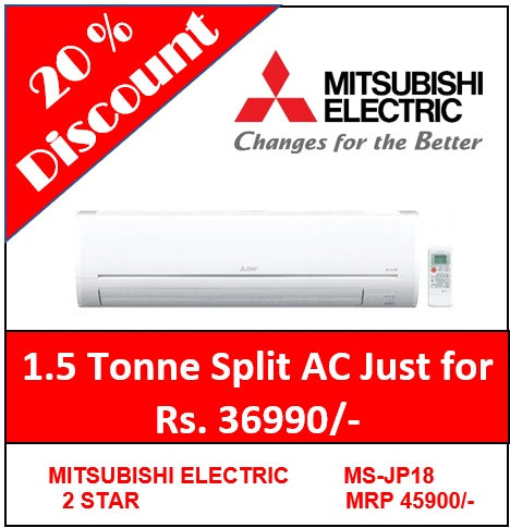 Mitsubishi Electric Split AC 1.5 Tone 2-STAR  MS-JP18VF