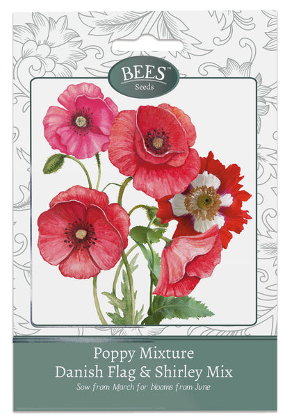 Poppy Seeds, Mixed Poppies, Poppy Mixture, Red Poppy, Red Poppies, Red Poppy Seed, Cottage garden seeds, Cottage garden plants, Bees Seeds