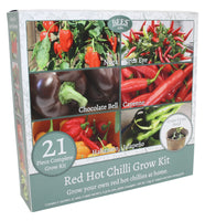 Red Hot Chili Kit, Chilli Plants, Red Hot Chilli Kit, Chilli Plants, GIY, GYO, Allotment growing, Grow your own food, kitchen gardening, Chili Seeds