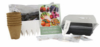 Grow Your Own Vibrant Vegetables Set, Beetroot Rainbow Mix, Purple Carrots, Vivid Swiss Chard, Radish Blush Mix, Tomato Tigerella, Squash Turkish Turban, GIY, GYO, Allotment growing, Grow your own food, kitchen gardening