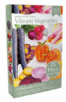 Grow Your Own Vibrant Vegetables Set, Beetroot Rainbow Mix, Purple Carrots, Vivid Swiss Chard, Radish Blush Mix, Tomato Tigerella, Squash Turkish Turban, GIY, GYO, Allotment growing, Grow your own food, kitchen gardening,