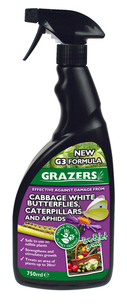 Grazers Butterflies and caterpillar repellant, Cabbage whitefly control, cabbage whitefly killer, organic cabbage whitefly control, organic aphid control, organic aphid killer, aphid killer, bug spray, organic bug spray, garzers animal repellant, grazers garden products, grazers g3