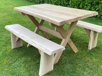 Garden table, oak garden table, hardwood garden table, Garden furniture, outdoor furniture, timber garden furniture, hardwood garden furniture, hardwood furniture, oak furniture, oak garden furniture