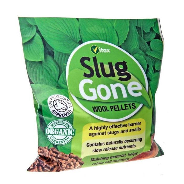 Wool Pellets, Vitax Wool Pellets, Slug Gone, Slug Gone Wool Pellets, Slug and snail barrier, organic slug pellet, organic slug control