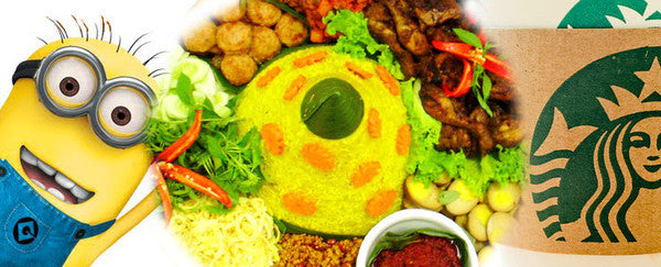 Tumpeng Nyonya Melly - Starbucks - Despicable Me