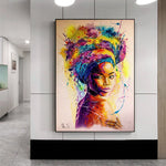 New Modern Abstract African Sexy Body Art Women for Home Living Room
