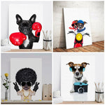 Nordic Modern HD Print Pet Dog Watercolor Modular