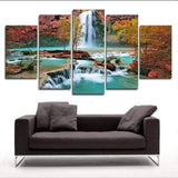 5 Panel Wall Painting Art Waterfall (No Frame)