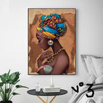 African Wall Art Single Paintings For Living Room