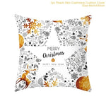 Cotton Linen Merry Christmas Cover Cushion Happy New Year