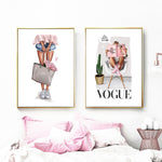 Vogue in canvas wall