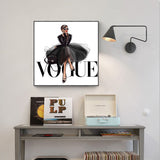 Vogue Wall Pop Art Painting on Canvas No Frame